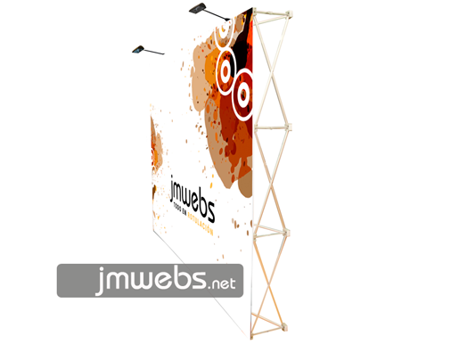 Photocall Pop-Up Stand Display Basic con Velcro | Espcialidades Barcelona | Ferias y eventos